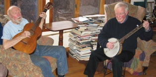 Richard Polenberg and Pete Seeger at his home on the Hudson River, January, 2009